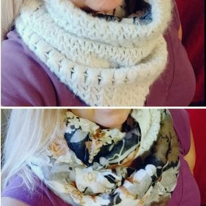 ❄️ collectioneighteen Two-Sided infinity Scarf EUC